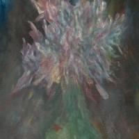 Flowers in Green Wine Bottle Art Prints & Posters by Dana Chabino
