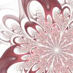 """Fractal Flower - White"" by Avandas"