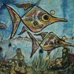 """popeyed fish"" by jamesritmanartworks"