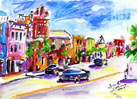 Charleston Street Scene 1 Painting by Ginette