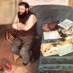"""Edgar Degas Portrait of Diego Martelli"" by oldies"