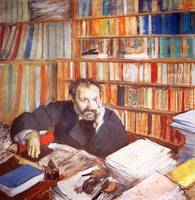 Edgar Degas Portrait of Edmund Duranty