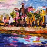 """""""Charleston White Point Gardens Panoramic"""" by GinetteCallaway"""