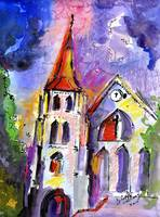 Charlotte Street Church Charleston Painting