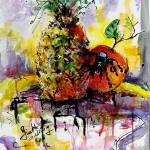 """Arachnapple Still Life Painting by Ginette"" by GinetteCallaway"