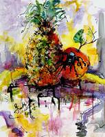 Arachnapple Still Life Painting by Ginette