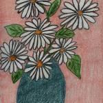 """Daisies in a Teal Vase"" by jmeraz"