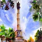 """Calhoun Monument in Marion Square Charleston"" by GinetteCallaway"