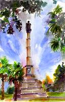 Calhoun Monument in Marion Square Charleston