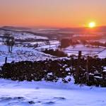 """Winter sunset near Kendal, Cumbria"" by Dave_Lawrance_Photography"