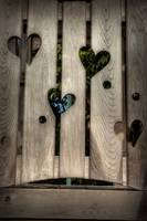 Hearts in wood