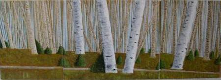 Birches on the Blues