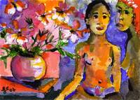 Homage to Gauguin by Ginette Callaway