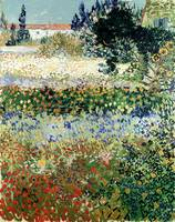 Garden in Bloom, Arles by Vincent van Gogh