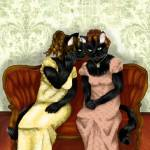 """Gossip Girls Regency Cats"" by taraflyphotos"