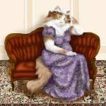 """Mrs Bennet Regency Cat"" by taraflyphotos"