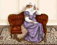 Mrs Bennet Regency Cat