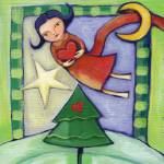 """""""Angel flying over the Christmas tree"""" by AngelsTrail"""