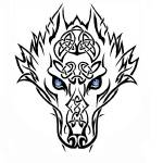 """""""Tribal Wolf"""" by BlueHobbit"""