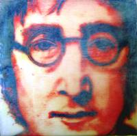 John Lennon Encaustic No 3 Red John