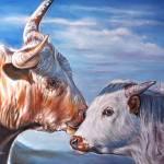 """""""A Little Bull"""" by UngerArt"""