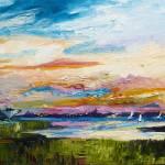"""""""Charleston Skyline Sunset & USS Yorktown by Ginet"""" by GinetteCallaway"""