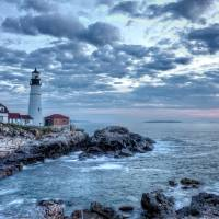 Dawn at Portland Head Light Art Prints & Posters by Beautifully Scene Images