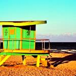 """Lifeguard Tower at 14th Street"" by PadgettGallery"