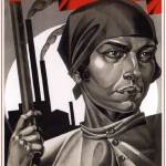 """Emancipated women, help build socialism!"" by SovietArt"