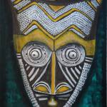 """Bakuba Dance Mask"" by jamesritmanartworks"