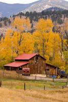 Rocky Mountain Autumn Rustic Barn