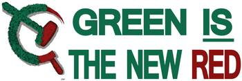 green is the new red BumperSticker