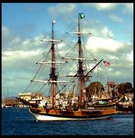 Lady Washington Tall Ship. Morro Bay, California
