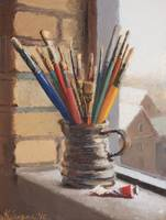 Brushes with Brown Jug