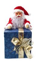 Santa Claus sitting on a parcel 1