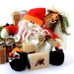 """Snowman Santa Claus with gifts 1"" by fotofollia"