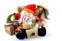 Snowman Santa Claus with gifts 1
