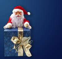 Santa Claus sitting on a parcel 2