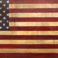Vintage American Flag #1 Art Prints & Posters by Adam Varga