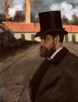 Edgar Degas Henri Rouart in front of his factory
