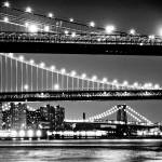 """Three Bridge from South Street Seaport"" by LocalStockPhoto"