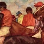 Edgar Degas Jockeys by Leo KL
