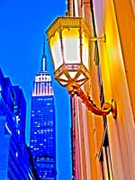 Lamp Post Empire State Building