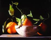 Oranges in Ceramic Bowl