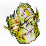 """Green face"" by Brian_Gibbs"