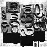 """Printers Blocks - Black and White"" by jansart"