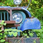 """Blue Jeep right 18x24 Print"" by danmcgeorge"