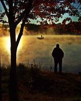 Sunrise  Fishing  At  Pratt  Pond
