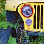 """Yellow Jeep Left 18x24 Print"" by danmcgeorge"