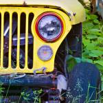 """Yellow Jeep Right 18x24 Print"" by danmcgeorge"